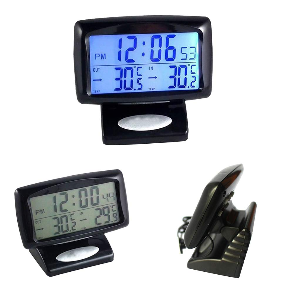 voltmetro//termometro elettronico per auto ultra-sottile Goliton/®