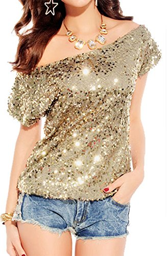 made2envy Off shoulder Glistening Sequin Cocktail