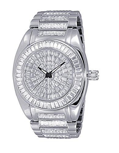 Adee Kaye Men's Quartz Brass Dress Watch, Color:Silver-Toned (Model: ()