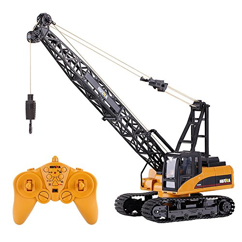 Goolsky HUI NA TOYS 1572 1/14 2.4Ghz 15CH Remote Control Construction Crane Engineering Truck RC Car Kids Toys Gift