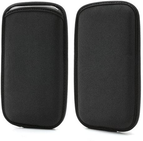 DFV mobile - Black Neoprene Waterproof Slim Carry Bag Soft Pouch Case Cover for ALCATEL ONE TOUCH SPOP 2013