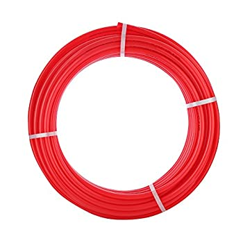 Image of Pipes AB 3/4' x 300ft Red PEX Tubing Flexible Water Tube: Pex-B 3/4 Inch Potable Water Pluming, 1 Roll Non-Barrier Flexible Water Pipe