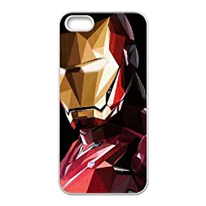 iPhone 5,5S Case Protective Cute Ironman Triangle SH, Ironman Cute Iphone 5s Cases For Teen Girls [White]