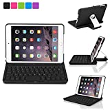 iPad Mini Keyboard Case, iNNEXT Wireless Keyboard Tablet Stand Ultra Slim Light Weight Cover Case with 360 Degree Rotating Viewing Stand for Apple iPad Mini 1 2 3 (Black)