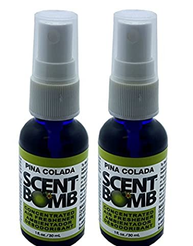 Scent Bomb Super Strong 100% Concentrated Air Freshener - 2 PACK (Pina Colada) (Scent Bomb Car Spray)