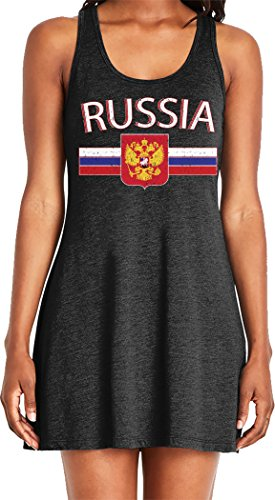 Amdesco Ladies Russian Flag and Russia Eagle Crest