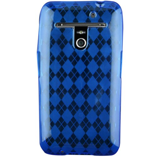 Hypercel TPU Checkered Cover for LG Revolution VS910 - Skin - Retail Packaging - Blue