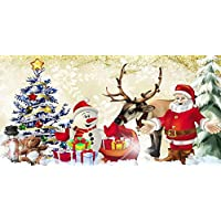 GladsBuy Santa Claus 20 x 10 Computer Printed Photography Backdrop Christmas Theme Background LMG-175
