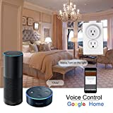 Smart WiFi Plug Mini Smart Outlet Socket Wireless Switch Works with Amazon Alexa Echo/Google Home/IFTTT Timing WiFi Enabled Remote Control No Hub Required by UNIOJO (White 1 Pack)