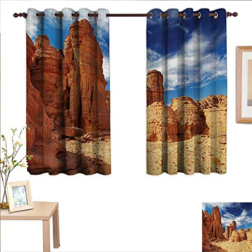 MartinDecor Desert Drapes for Living Room Bizarre Sandstone Cliffs in Sahara Desert Tassili NAjjer Algeria 55