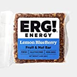 ERG! Energy - Cold Pressed, Gluten Free, Organic, Non-GMO, Fresh, All Natural Fruit & Nut Bars - Handmade in Michigan (12, Lemon Blueberry)