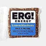 ERG! Energy - Cold Pressed, Gluten Free, Organic, Non-GMO, Fresh, All Natural Fruit & Nut Bars - Handmade in Michigan (3, Lemon Blueberry)