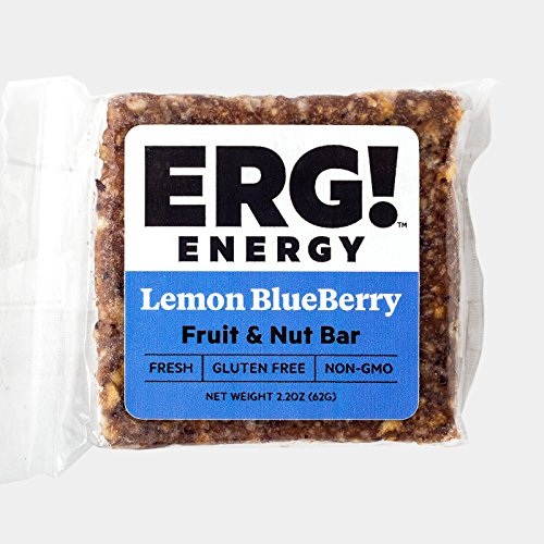 ERG! Energy — Cold Pressed, Gluten Free, Organic, Non-GMO, Fresh, All Natural Fruit & Nut Bars — Handmade in Michigan (12, Lemon (What City Is Central Michigan In)