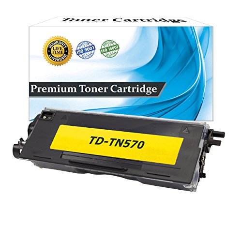 Top Dog Compatible Replacement for Brother TN570 Toner Cartridge, Brother TN540 High Yield Toner Cartridge Black (7,000 Page Yield) for use with Brother DCP-8040 Brother DCP-8045D Brother HL-5140 Brother HL-5150D Brother HL-5150DLT Brother HL-5170DN Broth