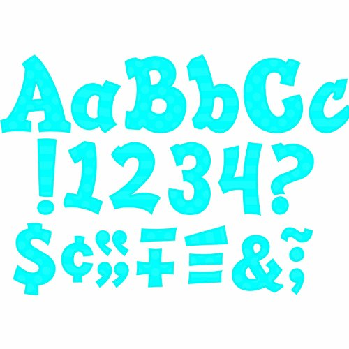 Teacher Created Resources 75264 Blue Sassy Solids 5-Inch Sassy Font Letters -