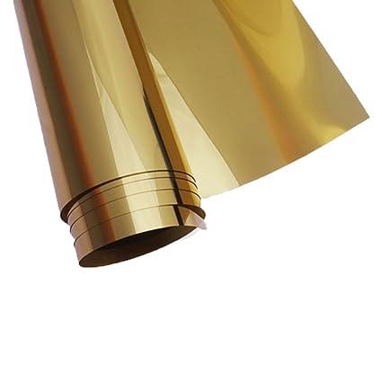 HOHO - Adhesivo Decorativo para Ventana, 50 x 200 cm, Color Dorado