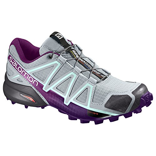 Running bleu Salomon p Mujer Trail de Calzado Speedcross fluo W para jaune 4 wxxq4FYa
