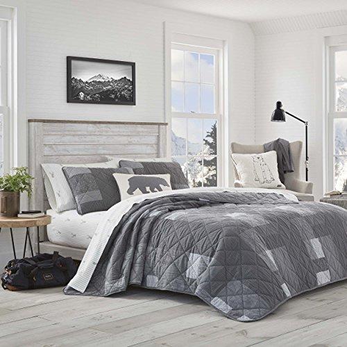 Eddie Bauer Full/Queen Swiftwater Quilt Set Gray