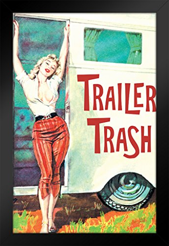 Retro Pin Up Art (ProFrames Trailer Trash Pinup Girl Retro Humor Framed Poster 12x18)