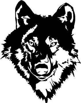 Wolf Head CarCamper Bike Van Window Stickers Decals Amazoncouk - Car window stickers amazon uk