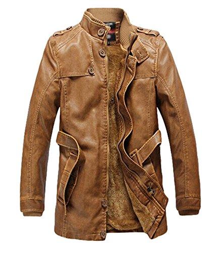 In Da Yellow Giacca Fashion Pelle Plus Earth Velluto Pu Uomo Spesso xYxw6v