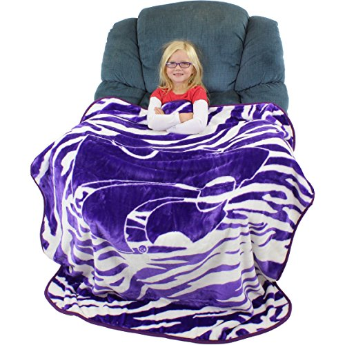 College Covers Kansas State Wildcats Super Soft Raschel Throw Blanket, 50