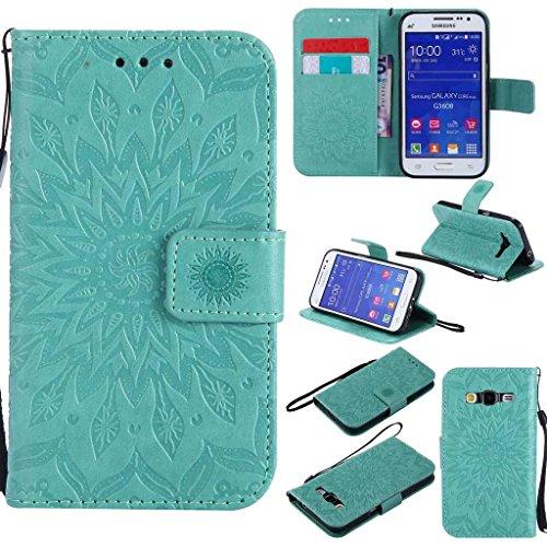 Galaxy Core Prime Case, KKEIKO Galaxy Core Prime Flip Leather Case [with...