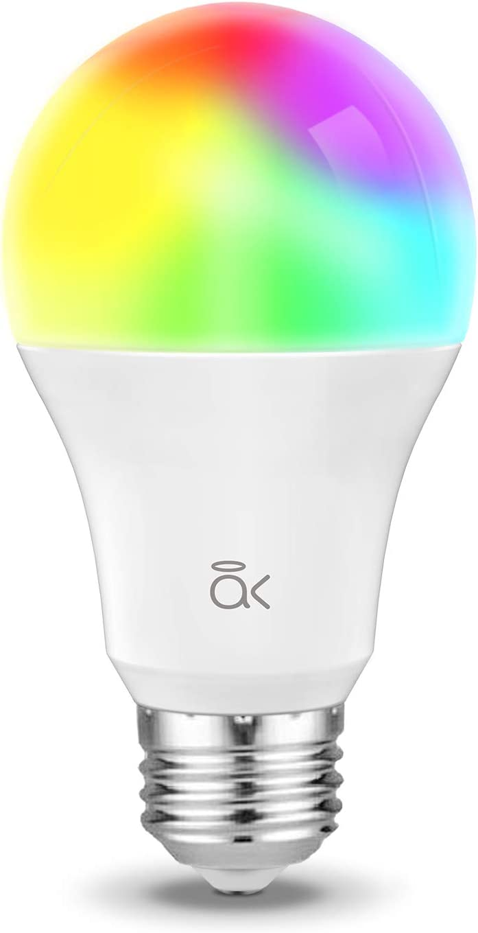 Smart Light Bulb, Works with Alexa, Echo, Google Home and Siri, AL Abovelights Dimmable E26 9W Wi-Fi LED Smart Bulb, Soft White (2700K), 60W Equivalent, 810 LM, RGB+W, ETL Listed - 1 Pack
