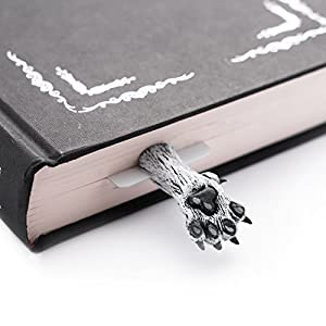 Direwolf-bookmark-inspired-be-Game-of-Thrones-Ghost-wind-paws-in-a-book