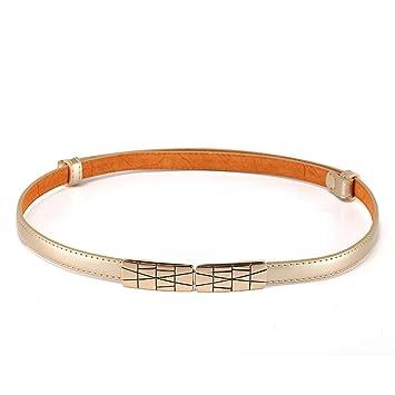 Easy Go Shopping Cinturón de Mujer Cinturón Delgado Cinturón elástico  Cadena de Punk Cinturón de Boda a96ff4f11349