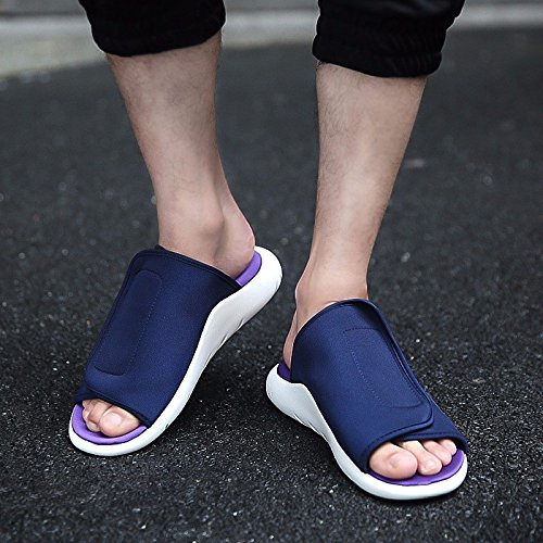sandali estate traspirante Uomini sandali infradito Antiscivolo Spiaggia scarpa tendenza sandali ,blu,US=9,UK=8.5,EU=42 2/3,CN=44