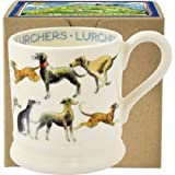 Emma Bridgewater Lurcher All Over 0.5pt Mug, Gift Boxed