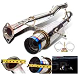 05 sti carbon fiber - 02-05 WRX STI STAINLESS PERFORMANCE TURBO MUFFLER CATBACK EXHAUST SYSTEM SET JDM