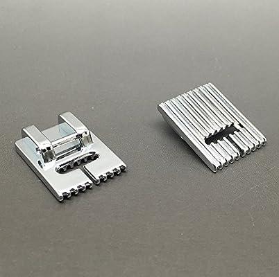 Compatible Pintuck prensatelas para máquina de coser 9 ranuras, para uso doméstico máquinas de coser: Amazon.es: Hogar