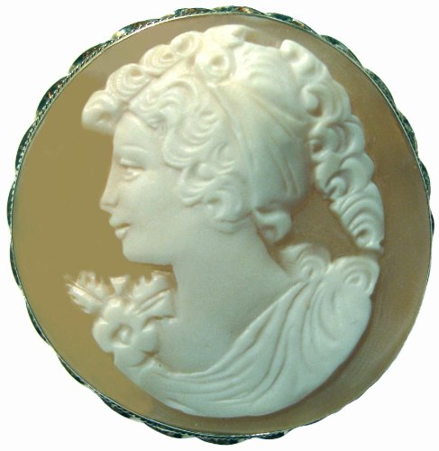 Cameo, Brooch, Pendant, Summer Love, Italian, Master Carved, Conch Shell, by cameosRus