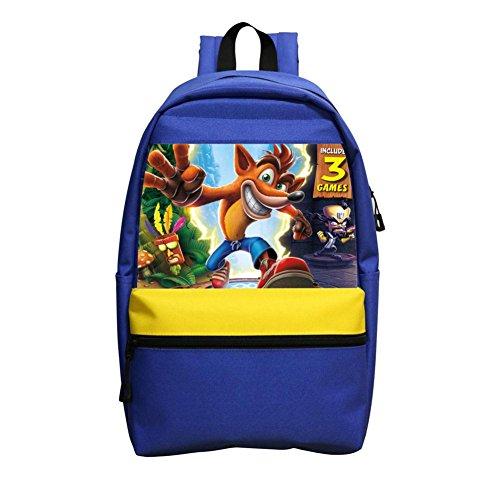 Custom Crash Bandicoot Trilogy Children School Bags Back Pack School Kids Backpacks