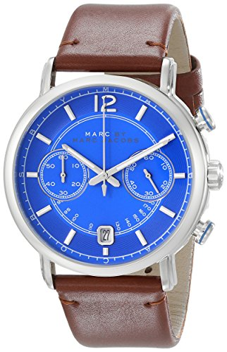 Marc by Marc Jacobs Men's MBM5066 Fergus Stainless Steel Watch with Brown Leather - Marc Marc By Men Jacobs