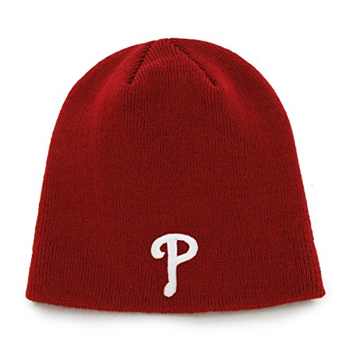 MLB Philadelphia Phillies Men's Knit Hat, One-Size, Red