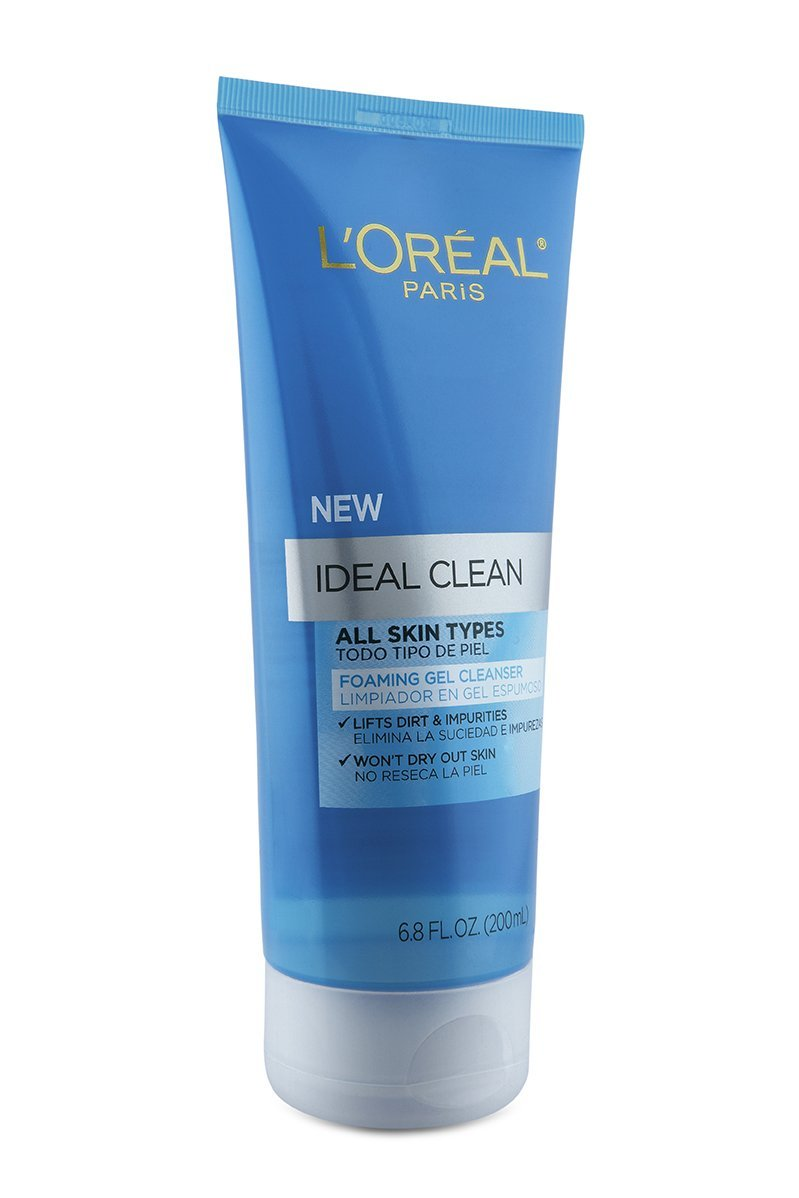 L'Oreal Paris Ideal Clean Foaming Gel Facial Cleanser, All Skin Types: Beauty