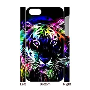 Personalized New Print Case for Iphone 4,4S 3D, Tiger Phone Case - HL-R645830