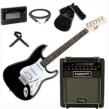 FENDER Squier Stratocaster Bullet HSS BK Amplificador KIT de Accesorios: Amazon.es: Instrumentos musicales