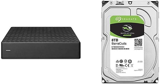 【セット買い】【Amazon.co.jp限定】Seagate Expansion HDD 6TB TV録画 静音 PS4 縦・横置可 省エネ 3年保証 外付け ハードディスク 3.5インチ STEB6000301 & Seagate BarraCuda 3.5