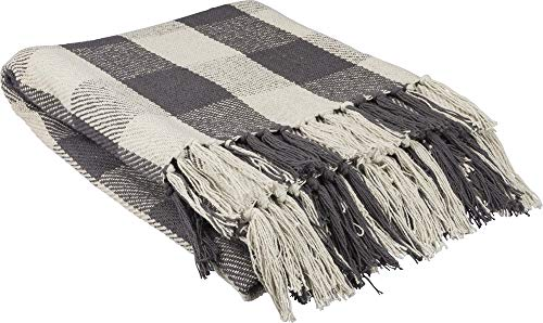 Primitives by Kathy Farmhouse Style Throw Blanket, 50 x 60-Inches, Buffalo Check
