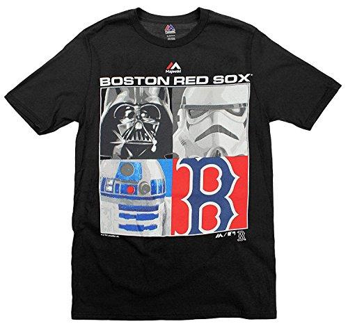 Majestic MLB Boys Youth Star Wars Main Character T-Shirt, Boston Red Sox, X-Large (18-20)