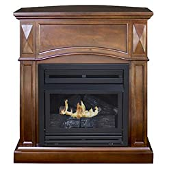 "Kozy World ""The Belmont"" Compact Freestanding Gas Fireplace"