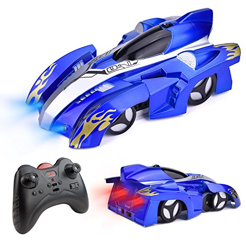 Fun Little Toys Remote Control Wall Climbing Car-Gravity Defying RC Car in Assorted Colors for Kids Electric Sport Racing Car Toy (Blue) for $<!--$19.95-->