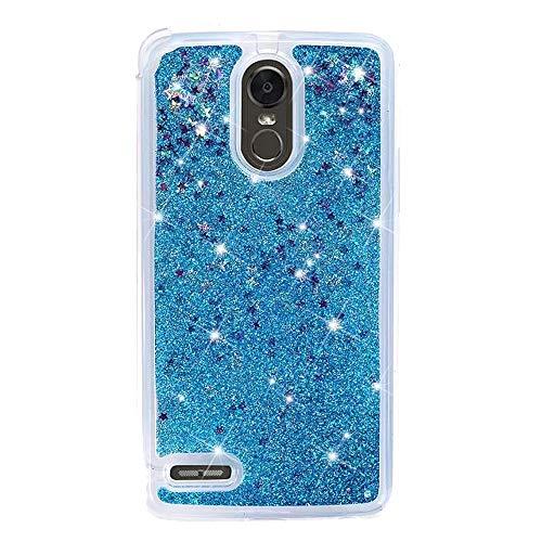 LG Stylo 3/ LG Stylo 3 PLUS Case, Glitter Falling Case for LG Stylus 3 / LG Stylo 3 / LG Stylus 3 Plus/LG Stylo 3 Plus (Blue)