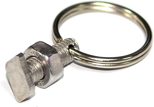 ficelle poussent lampes etc Yeux bague fendue pour les fils attach/és sinscrit dans /à effet de barres de vitrage 10 effet de serre d/écrous et de boulons recadr/ée Anneau Ensembles
