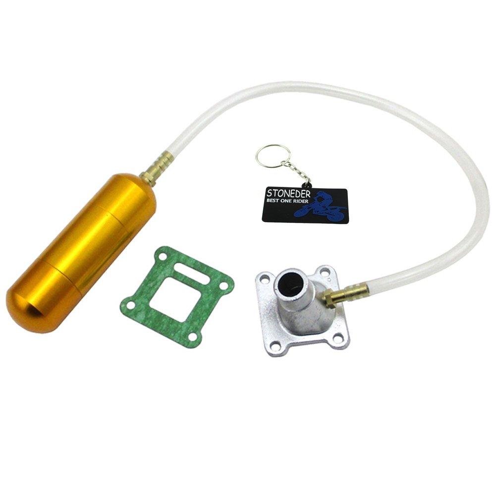 STONEDER Gold Power/Boost Flasche Motor Lufteinlass Pipe Set fü r 47 50 cc 2 Takt Mini Pocket Bike