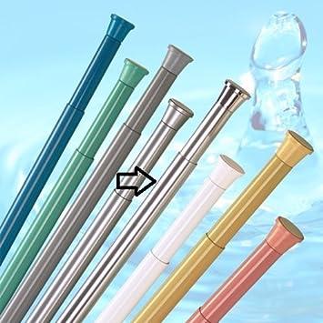 Lovely New Telescopic Extendable Shower Curtain Rod Rail   70cm   110cm   Spring  Loaded (Chrome